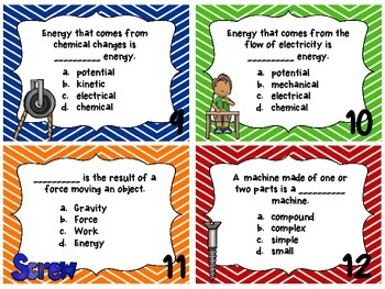 Force, Motion, and Simple Machines Task Cards