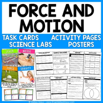 Force, Motion, and Simple Machines - Reading Passages, Labs, and Task Cards