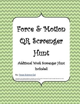 Force, Motion, and Work QR Scavenger Hunt