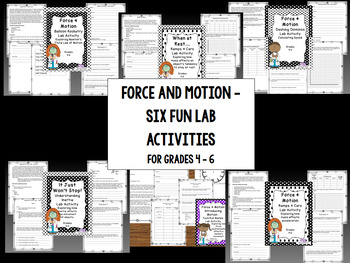 Force & Motion lab bundle for Newton's three laws, inertia