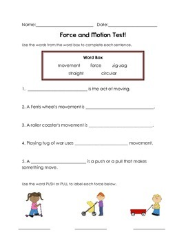 Force & Motion test