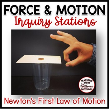 Force & Motion Stations - Investigating Newton's 1st Law of Motion (Inertia)