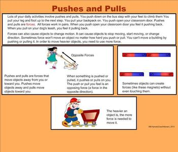Force - Pushes and Pulls - A Third Grade Smartboard Introduction
