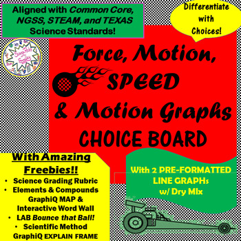 Force, Motion, Speed & Graphs CHOICE BOARD