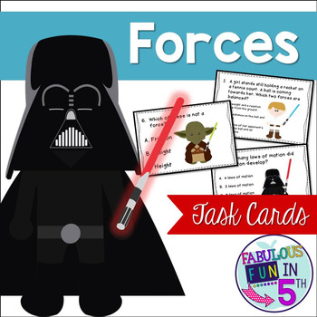 Forces Task Cards - Star Wars Theme