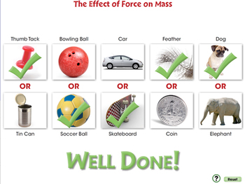 Force: The Effect of Force on Mass - PC Gr. 5-8