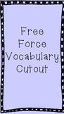 Force Vocabulary Cutout