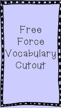 Force Vocabulary Cutout