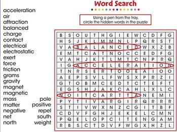 Force: Word Search - MAC Gr. 5-8