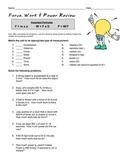 Force, Work & Power Worksheet