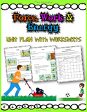Force, Work and Energy – Unit plan with worksheets