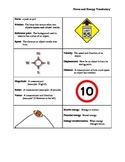 Force and Energy Vocabulary Sheet