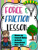 Force and Friction Lesson- Force and Motion Unit Printable Resource