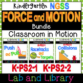 Force and Motion Bundle: A Kindergarten NGSS Science Unit (K-PS2-1, K-PS2-2)