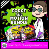 Force and Motion Activities BUNDLE (EDITABLE PowerPoint and Flipbook)