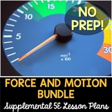 Force and Motion 5E Bundle - 7 Supplemental Lesson Plans - NO LABS