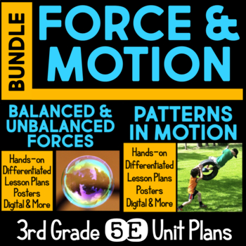 Force and Motion 5E Unit Plans for Third Grade BUNDLE