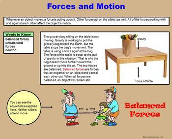 Force and Motion -  A Fourth Grade PowerPoint Introduction