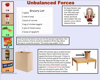 Force and Motion - A Fourth Grade SMARTBoard Introduction