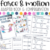 Force and Motion Adapted Book & Comprehension for Special