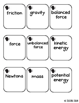 Force and Motion Angry Birds Themed Tasks