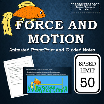 Force and Motion Animated PowerPoint INCLUDED Note Taking Sheet