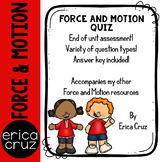 Force and Motion Assessment