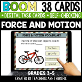 Force and Motion Boom Cards | Distance Learning
