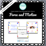 Force and Motion (Stop Dr. Devious) Customizable Escape Ro