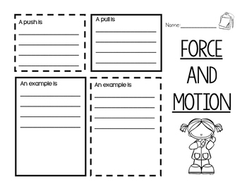 Force and Motion Brochure