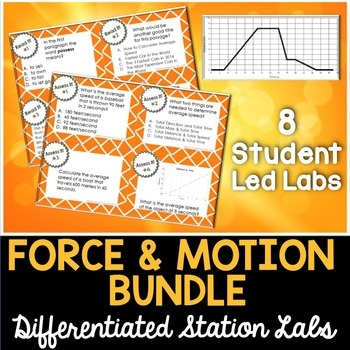 Force and Motion Student-Led Station Labs Bundle