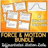 Force and Motion Student-Led Station Labs Bundle - Distance Learning
