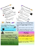 Force and Motion Cloze Notes and PowerPoint