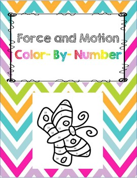 Force and Motion Color by Number