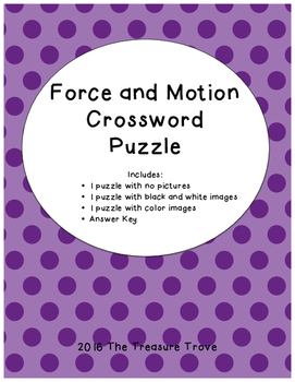 Force and Motion Crossword Puzzle