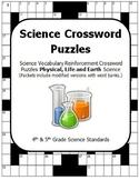 Science Vocabulary Crossword Puzzles