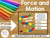 Force and Motion | Digital Board Game | 2nd Grade | Google Forms