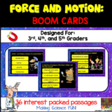 Force and Motion Digital Boom Cards