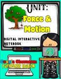 Force and Motion- Physical Science Digital and Printable Interactive Notebook