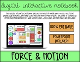 Force & Motion *Digital* Interactive Notebook and Slidesho