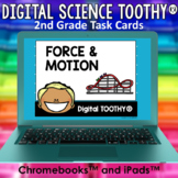 Force and Motion Digital Science Toothy ® Task Cards | Dis