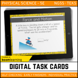 Force and Motion Digital Task Cards - Boom Cards - Distanc