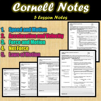 FORCE and MOTION PRESENTATION, NOTES, AND WARM-UPS {Editable}