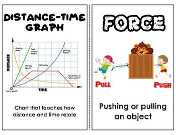 Force and Motion English/Spanish Word Wall
