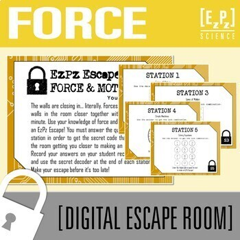 Force and Motion Science Escape Room