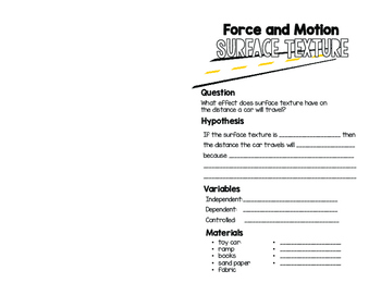 Force and Motion Experiments