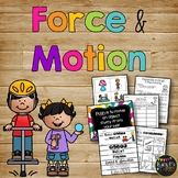 Force and Motion Worksheets Science Experiments and Activities