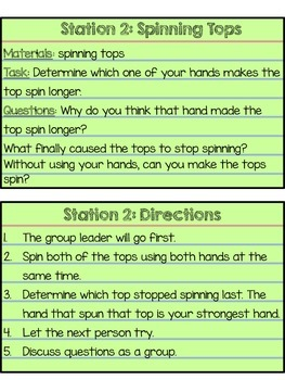 Force and Motion Exploration Stations