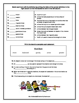 Force and Motion: Forces Quiz