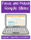 Force and Motion Google Classroom Distance Learning